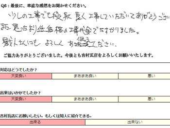 中津川 屋根リフォーム思ったより低額の代金で助かりました。職人さんにもよろしくお伝えください。